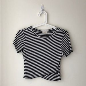 Black & White Striped Crop